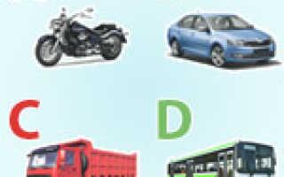 Какие категории водительских прав существуют в россии