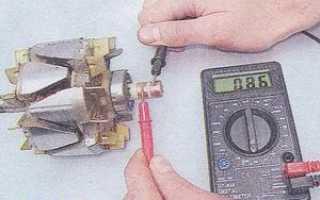 Как прозвонить обмотку статора генератора