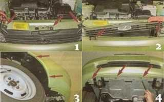 Как установить бампер на калину