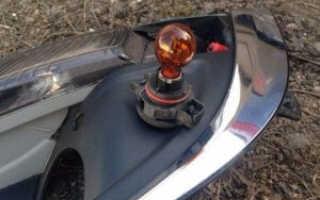 Как поменять лампочку поворотника на ваз 2114