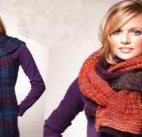 Как новичку связать спицами шарф?