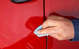 Как устранить царапины на машине