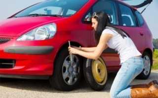 Как поменять колесо машины видео