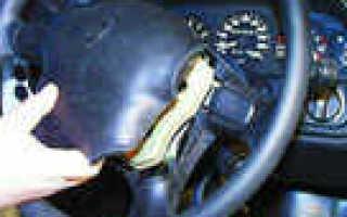 Как снять руль на волге