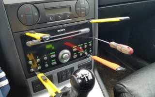 Как снять приемник в автомобиле