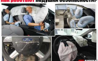 Как работает подушка безопасности в машине видео